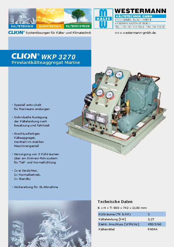Product Informations - Refrigerating systems, air